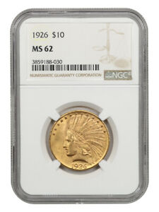 1926 $10 NGC MS62 - Lovely Type Coin - Indian Eagle - Gold Coin