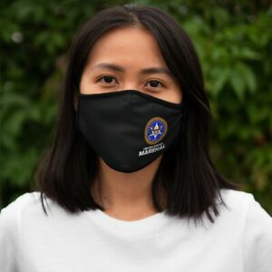 US Marshal Police - Fitted Polyester Face Mask