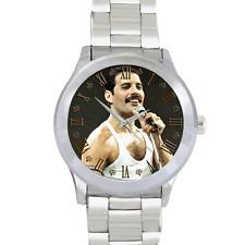 Queen Rock Band Freddie Mercury Watch Stainless Steel Men's Round Wrist Watch