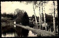 Sebnitz sächsische Schweiz DDR s/w Postkarte 1958 gelaufen Forellenschänke Teich