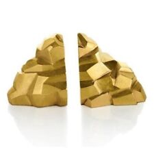 NWT Michael Aram Gold Rock Bookends $295