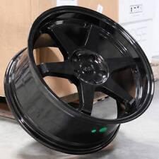 "17"" ESR SR07 Black Wheels Fit Scion TC 2011 Up Xb 17x8.5 5x114.3 +35 Rims Set 4"