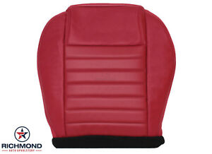 2005-2009 Ford Mustang Shelby Super Snake -Driver Bottom Leather Seat Cover Red