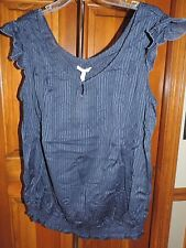 NWT Women's Size L large OLD NAVY Maternity Blouse Navy