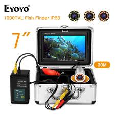 7 Inch 30M Underwater Fishing Camera Waterproof with Yellow IR Light Fish Finder