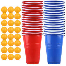 1 Set of Beer Pong Game Kit Stylish Tennis Balls Cups Party Supplies for Pub KTV