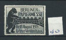 wbc. - CINDERELLA/POSTER - CF27 - EUROPE - BERLINER PAPIERMESSE - 1913