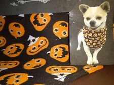 Pet Bandanna for Dogs Size Small/Medium Decorated With Orange Pumpkins
