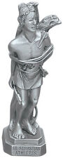 Statue St Sebastian 3.5 inch Pewter Silver Figurine Patron Saint Catholic Boxed