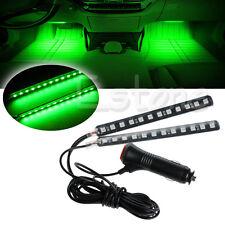 Hot Green 2X12 LED Car Interior Footwell Floor Decor Atmosphere Light Neon Strip