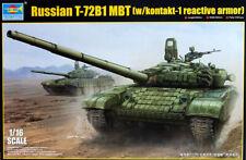 Russian T-72B1 MBT kontakt-1 reactive armor Tank 1:16 Model Kit Trumpeter 00925