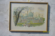 Print of a Watercolour by Harry Toothill 74/700 Signed. Royal Pavilion, Brighton