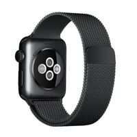 BLACK Milanese Loop Stainless Steel Band for Apple Watch 38MM 40MM 42MM & 44MM