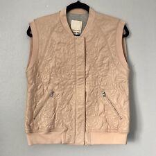 NWOT Rebecca Taylor Genuine Lamb Leather Womens Oversized Vest Jacket, Size 6