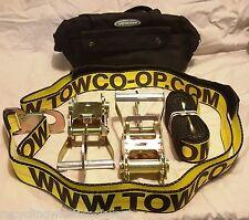 2 ratchets snaphook+ 2 wheel Straps + case Jerr Dan wrecker selfloader dynamic