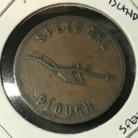 1857 PRINCE EDWARD ISLAND SUCCESS TO THE FISHERIES 1/2 PENNY TOKEN