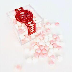 Crystal Candy Cube - CONFETTI HEARTS