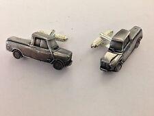 Mini Pick Up 3D cufflinks classic car pewter effect cufflinks ref147