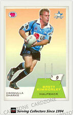 2003 Select NRL Scanlens Trading Card Retro #9: Brett Kimmorley (Sharks)