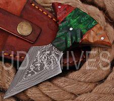UD KNIVES CUSTOM HANDMADE DAMASCUS STEEL HUNTING FULL TANG KNIFE 8791