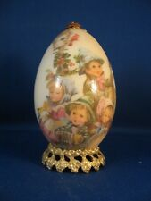Vintage Hand Decorated Goose Egg With Old World Charm