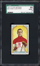 1911 C55 Imperial Tobacco #25 Odie Cleghorn Rookie Card (Renfrew) SGC 88 NM-MT