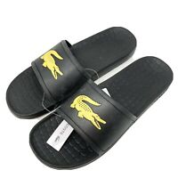 Lacoste Men's Size 11 Fraisier Slide Sandals Black New