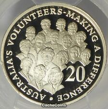 2003 Proof 20c Australian Volunteers PCGS PR70DCAM 20c Proof Decimal Coin