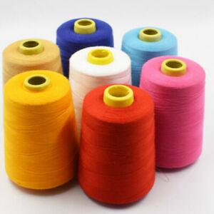 8000 Yard Overlocker Sewing Thread Embroidery Machine Line Quilting Single White