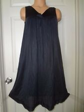 Vintage Silky Black Nylon Vanity Fair Nightgown