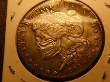 Skeleton Faced Silver Morgan Dollar