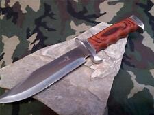 "Elk Ridge Hunting Knife 12.5"" Fixed Full Tang Bowie Wood Handle Hunter 012"