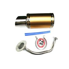 Exhaust System Muffler Colour Gold Fit For Gy6 50cc-400cc 4 Stroke Scooters Atv
