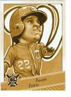 Juan Soto 2020 Topps Big League Star Caricature Reproductions 5x7 Gold #SC-JS /1