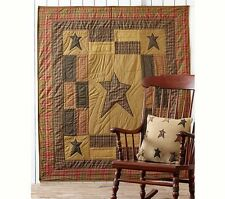 Stratton Quilted Patchwork & Appliqued Stars Throw Blanket by VHC Brands