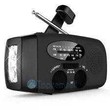 Solar Emergency Hand Crank Weather Radio Dynamo AM/FM/WB LED Torch Self Powered