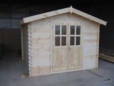 AMAL LOG CABIN - 4m x 4m - 34mm - Summer House, Garden Building, Home Office
