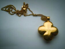 HEIDI KLUM  Yellow Gold Over Sterling 925 Silver Clover Pendant Chain Necklace