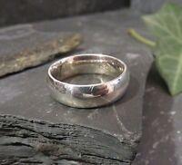 Massiver 925 Silber Ring Schlicht Funkelnd Unisex Damen Herren Klassisch Elegant