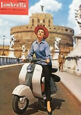 "Reproduction Vintage Italian ""Lambretta"" Poster, Wall Art, Size A2"