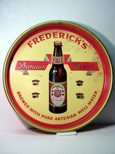 """FREDERICK'S PREMIUM BEER Tray, """"Four Crown Special,"""" Thornton, Illinois"""