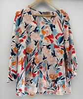 SUSSAN amazing Printed 3/4 Sleeve Top Blouse Size 14