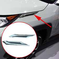 Chrome Headlight Eyebrow Cover Strips Trim For Toyota RAV4 2019 2020 Accessories