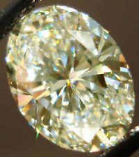 3.00 ct VVS1/11.80mm OFF WHITE COLOR LOOSE OVAL REAL MOISSANITE 4 RING/PENDANT