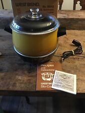 Vintage 1974 West Bend 4 Qt Slow Cooker w/ Glass Lid NEW Open Box Harvest Gold