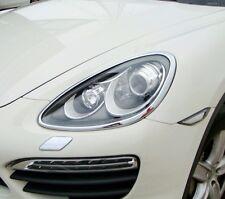 IDFR Porsche Cayenne 2011~2014 chrome front lamp frame, head lamp bezel