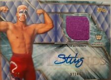 2017 Topps Legends of WWE STING AUTO SHIRT RELIC #11/25 WCW nWo Autograph Signed