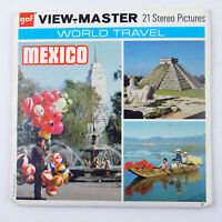 Vintage View-Master Reels Set Packet F019 MEXICO World Travel Series (1973)