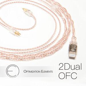 OEAudio 2DualOFC HiFi Earphones Upgrade Cable 2.5mm 3.5mm 4.4mm Type-C Connector