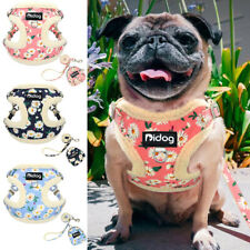 Fancy Flower Pet Vest Dog Harness with Matching Leash and Treat/Poop Bag Pouch